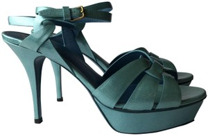 Saint Laurent blue green Sandals