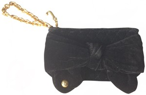 Juicy Couture Velvet Quilted Chain Wristlet in Black