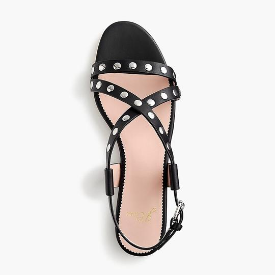 J.Crew Studded Strappy Buckled Black Sandals Image 2