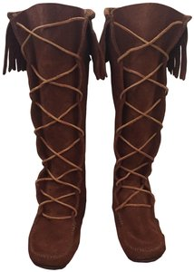 Minnetonka Moccasin Knee High Boho Moccasin Brown Boots