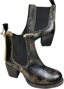 Bed|Stü black distressed Boots