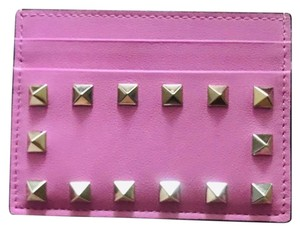 Valentino Valentino Rockstud card holder in smooth leather