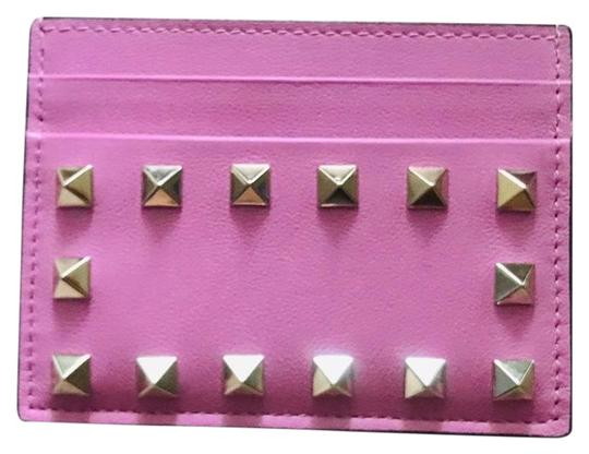 Preload https://img-static.tradesy.com/item/25919594/valentino-pink-rockstud-card-holder-in-smooth-leather-wallet-0-2-540-540.jpg