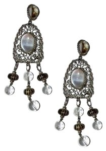 Kenneth Jay Lane Kenneth Lane Massive Runway Jelly Belly Lucite Chandelier Earrings Sig