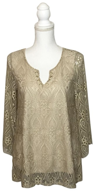 Item - Taupe Crochet Overlay Tunic Size 6 (S)