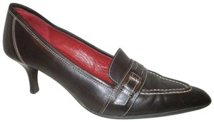 Coach Leather Onm002 brown Pumps