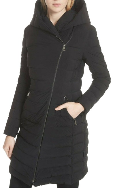 Item - Black Womens Barge Matte Quilted Down Stretch Coat Size 2 (XS)