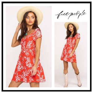 Free People short dress Red, White on Tradesy