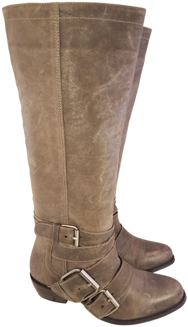 Item - Brown Woman Leather Buckles Tall Boots/Booties Size US 6.5 Regular (M, B)