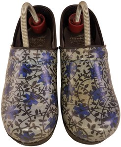 Dansko Woman Floral Vegan Professional Stapled Woman Size 37 blue Mules