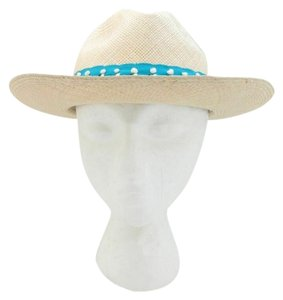 Tory Burch OS - Tory Burch Womens Top Stitch Fedora NWT NEW $125 Straw Hat 0716MD