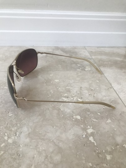 Oliver Peoples Farrell Chrome Gold Sunglasses with Mineral Chocolate Gradient Lens Image 2