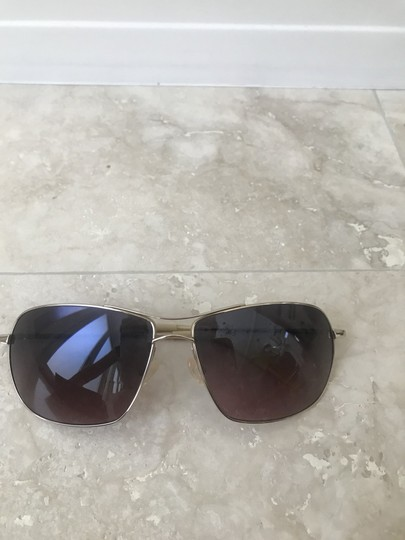 Oliver Peoples Farrell Chrome Gold Sunglasses with Mineral Chocolate Gradient Lens Image 3