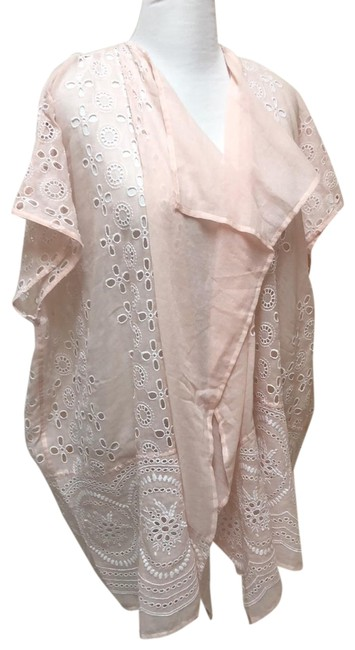 Item - Ecru Embroidered Beach Cover Poncho/Cape Size OS (one size)