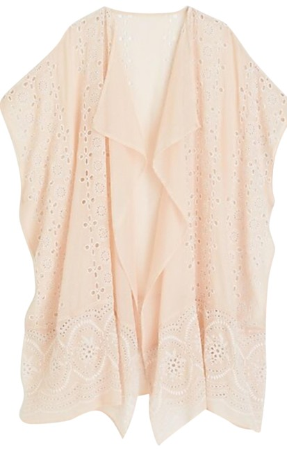 Item - Ecru Embroidered Beach Poncho Scarf/Wrap