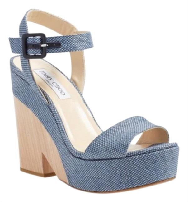 Item - Blue Nico Wedges Size EU 36 (Approx. US 6) Regular (M, B)