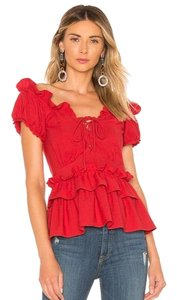 Marissa Webb Top red