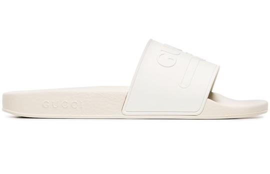 Gucci Loafer Mule Slide Flat Marmont white Sandals Image 2