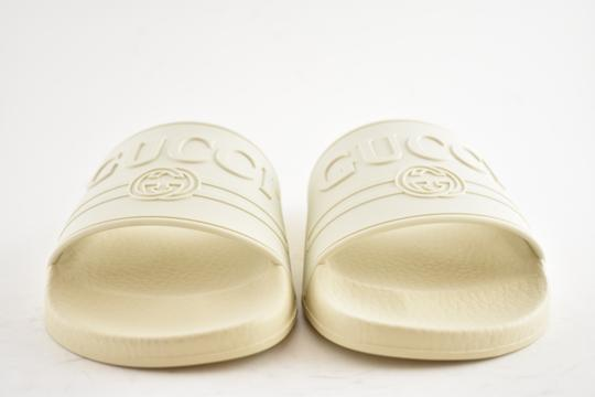 Gucci Loafer Mule Slide Flat Marmont white Sandals Image 4