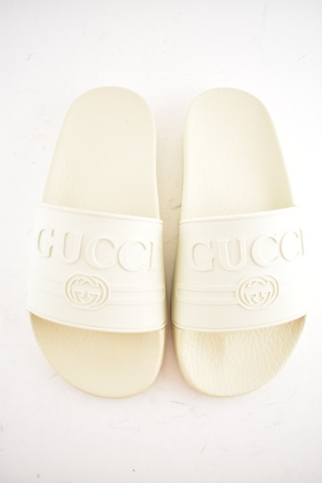 Gucci Loafer Mule Slide Flat Marmont white Sandals Image 6