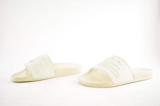 Gucci Loafer Mule Slide Flat Marmont white Sandals Image 8