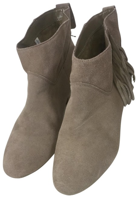 Item - Gray Suede Leather Fringed Boots/Booties Size US 8 Regular (M, B)