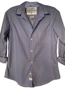Frank & Eileen Button Down Shirt Blue & White