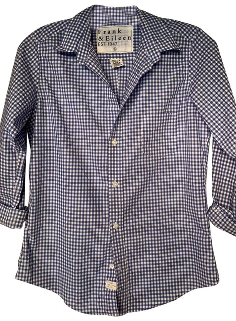 Preload https://img-static.tradesy.com/item/25920976/frank-and-eileen-blue-white-barry-button-down-top-size-6-s-0-1-650-650.jpg