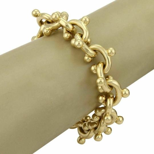 Tiffany & Co. Paloma Picasso Curved Solid 18k Yellow Gold Hook Links Bracelet 97gr Image 1
