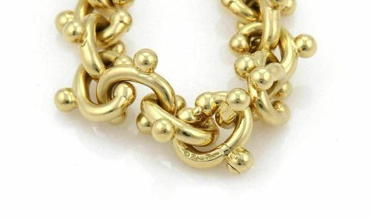 Tiffany & Co. Paloma Picasso Curved Solid 18k Yellow Gold Hook Links Bracelet 97gr Image 3