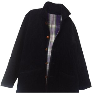 Burberry London Vintage Checkered Corduroy Casual Western Trench Coat
