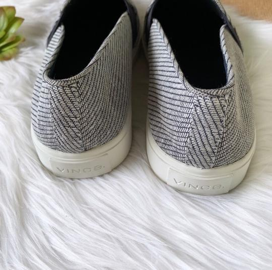 Vince Sneakers Slip On Coastal White Woven Fabric Athletic Image 5
