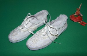City Sneakers Fashion Bling Embroidered Boho White Athletic