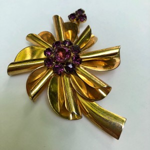 Vintage sterling silver flower vintage brooch pin