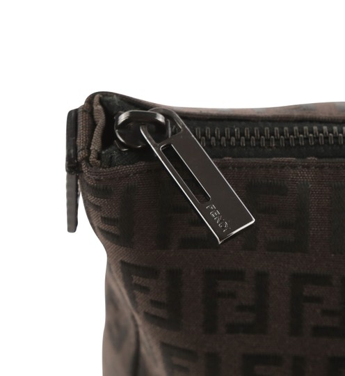 Fendi Canvas Leather Tote in Brown Image 5