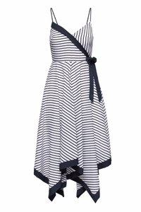 Maxi Dress by Banana Republic Striped Nautical Asymmetrical