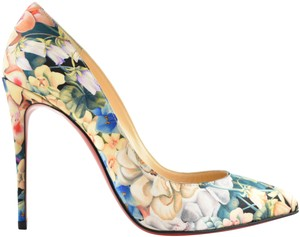 Christian Louboutin Stiletto Choca Crisscross Strap Ankle Strap Platform blue Pumps