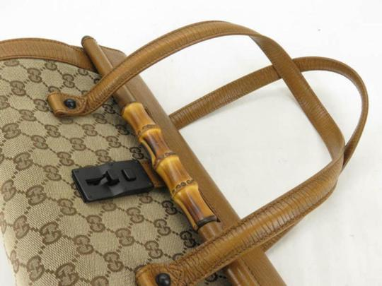 Gucci Bullet Boston Joy Speedy Bamboo Satchel in Brown Image 1
