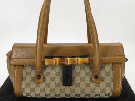 Gucci Bullet Boston Joy Speedy Bamboo Satchel in Brown Image 10