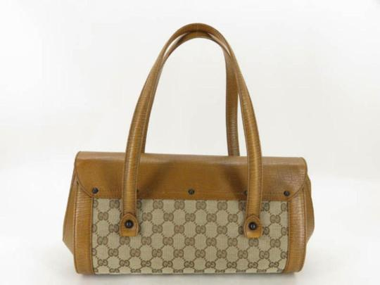 Gucci Bullet Boston Joy Speedy Bamboo Satchel in Brown Image 5