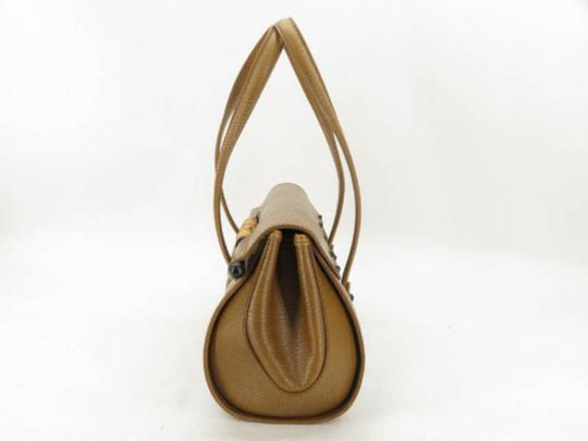 Gucci Bullet Boston Joy Speedy Bamboo Satchel in Brown Image 6