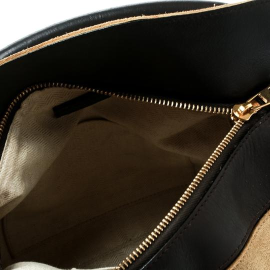 Loewe Suede Canvas Leather Tote in Beige Image 6
