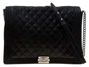 Chanel Leather Fabric Quilted Shoulder Bag