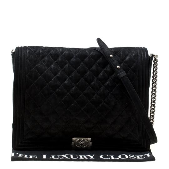Chanel Leather Fabric Quilted Shoulder Bag Image 8