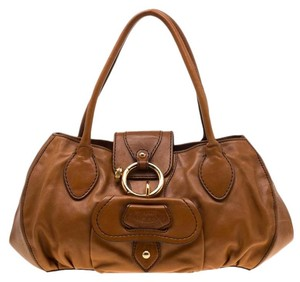 Tod's Leather Fabric Satchel in Brown