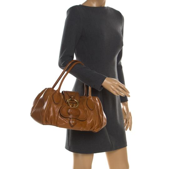 Tod's Leather Fabric Satchel in Brown Image 2