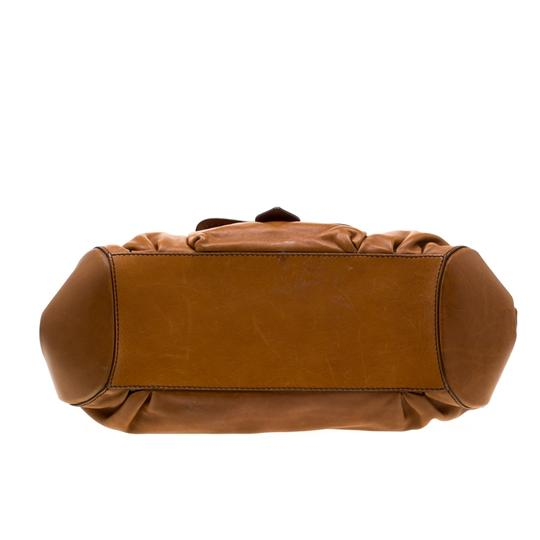 Tod's Leather Fabric Satchel in Brown Image 3