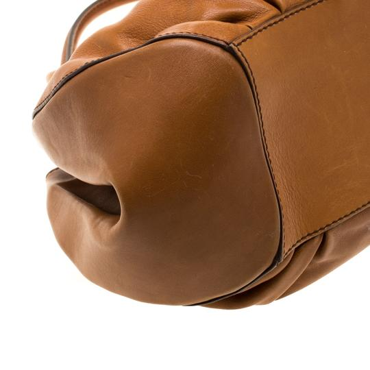 Tod's Leather Fabric Satchel in Brown Image 5