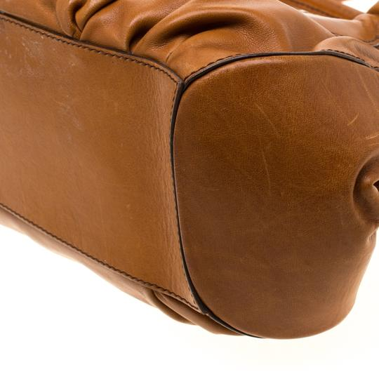 Tod's Leather Fabric Satchel in Brown Image 6