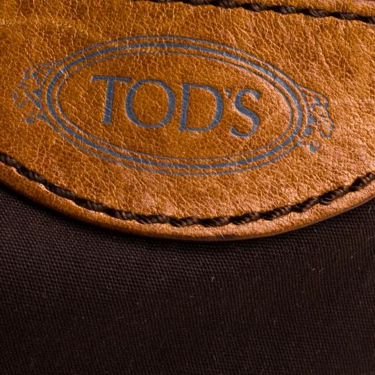 Tod's Leather Fabric Satchel in Brown Image 7